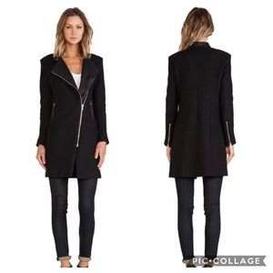 BB Dakota leather trim coat